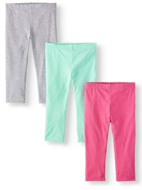 Solid Capri Leggings, 3pc Multi-Pack (Toddler Girls)