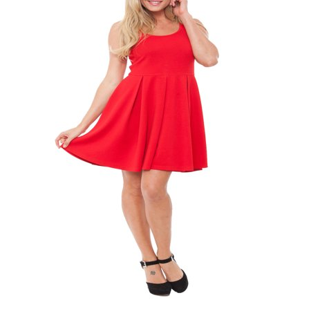 Women's Fit and Flare Mini Dress - Belle Dress For Women