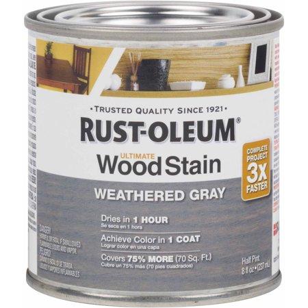 Rust-Oleum Ultimate Wood Stain Half-Pint, Weathered