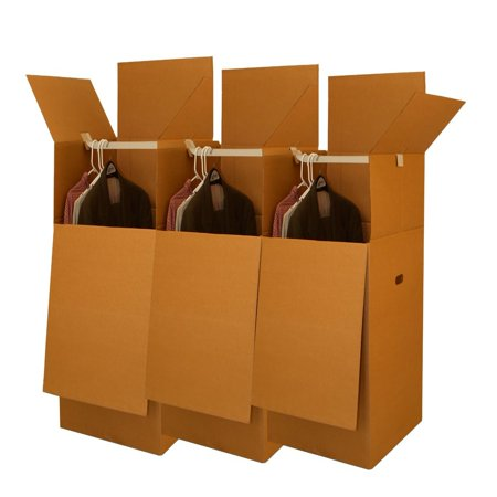 Uboxes Wardrobe Moving Boxes, 24x24x40in, 3 Pack, Tall Boxes (Moving Box 24x24x24)