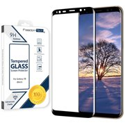 Galaxy S8 Screen Protector Tempered Glass, FREEDOMTECH 3D Curved Full Screen Coverage For Samsung Galaxy
