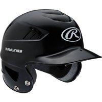Rawlings Coolflo Molded Baseball Batting Helmet, Black