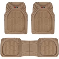 Motor Trend FlexTough Car Floor Mats Contour Liners - Heavy Duty Deep Dish Rubber Mats for Car & SUV, (Odorless)