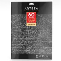 "Arteza 9"" x 13""Graphite Transfer Paper (60 Sheets)"