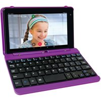 """Refurbished RCA RCT6873W42KC P Voyager 7"""" 16GB Tablet with Keyboard Case Android 6.0, Purple"""