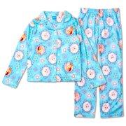 Disney Frozen Anna and Elsa MicroFleece Girls Pajama eebe24761