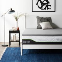 Lucid Bamboo Charcoal Therapeutic Memory Foam Mattress Topper