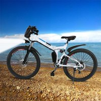 "Ancheer 26"" 21 Speed Folding Electric Mountain Bike For Adults Bicycle with 36V 250W Large Capacity Lithium-Ion Battery"