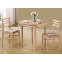 Coaster Company 3-Piece Breakfast Table Set, Natural