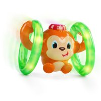 Bright Starts Roll & Glow Monkey Toy with Lights and Melodies