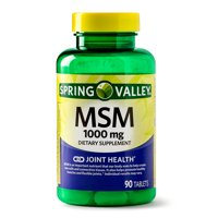 Spring Valley MSM Tablets, 1000 mg, 90 Ct