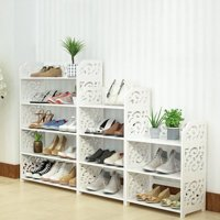 Home Carved Shoe Cabinet Storage Organiser Shoe Rack Stand Bookshelf CD Display