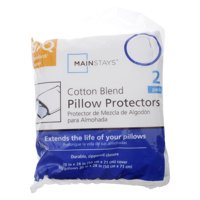 Mainstays Cotton Blend 2-Pack S/Q Zippered Pillow Covers