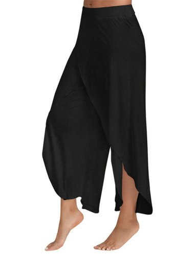 Womens Harem Palazzo Wide Leg Loose Chiffon Split Skirts Yoga Pants Long Trousers - Toga Clothes