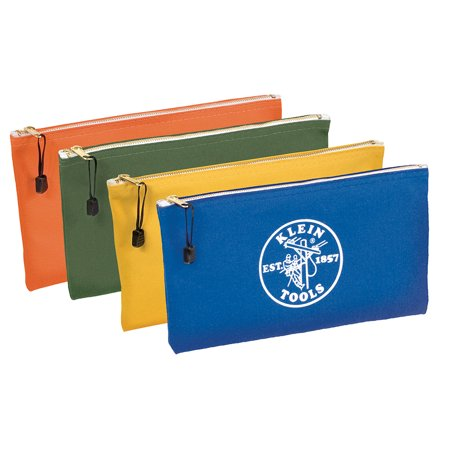 Klein Tools 5140 4 Pack Zipper Tool Bag, Olive/Orange/Blue/Yellow - Pink Tool Bag