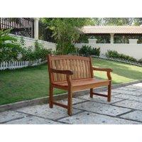Outdoor 4-foot Wood Marley Bench