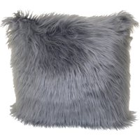 "Better Homes & Gardens Angora Decorative Throw Pillow, 18"" x 18"", Grey"