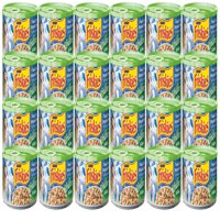 (24 Pack) Purina Friskies Indoor Flaked Ocean Whitefish Dinner With Garden Greens in Sauce Adult Wet Cat Food - 5.5 oz. Can