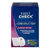 First Check At Home Urine Drug Test, 4 drugs tested, 1.0 ct