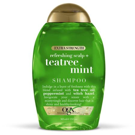 Tea Tree Medicated Shampoo - OGX Extra Strength Tea Tree Mint Shampoo 13oz
