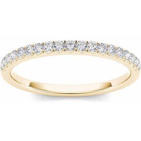 - 1/4 Carat T.W. Diamond 14kt Yellow Gold Wedding Band