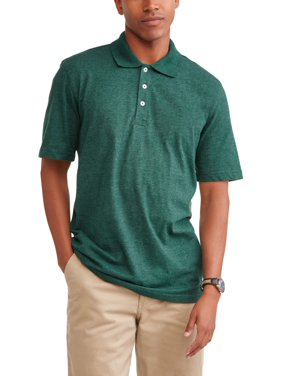 George Men's Short Sleeve Solid Jersey Polo, Up To 5Xl