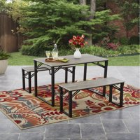 Mainstays Talan Faux Wood Folding Picnic Table and Bench Set