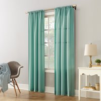 Mainstays Textured Solid Curtain Panel