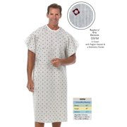 82adfe65bb Raspberry Grey IV HOSPITAL PATIENT GOWN with Telemetry Pocket   Raglan  Sleeves (1-Piece