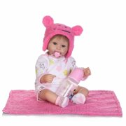 NPK Collection Reborn Baby Doll Soft Silicone 18inch 45cm Magnetic Lovely Lifelike Cute Lovely Baby Pink suit baby