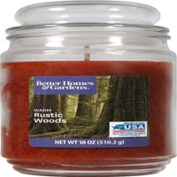 Better Homes & Gardens 18oz Jar Candle, Warm Rustic Wood