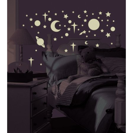 RoomMates - Glow-in-the-Dark Celestial Peel & Stick Wall Decals - Tmnt Wall Decals