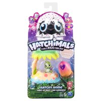 Hatchimals CollEGGtibles, Breezy Beach Hatchy Home Lightup Nest with Exclusive Season 4 Hatchimals CollEGGtible, for Ages 5 and Up