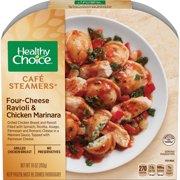 Healthy Choice Cafe Steamers Frozen Dinner, Four Cheese Ravioli & Chicken Marinara, 10 Ounce