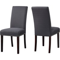 DHI Nice Nail Head Upholstered Dining Chair, 2 Pack, Multiple Colors