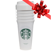 Starbucks 16oz Reusable Cups 5-Pack White