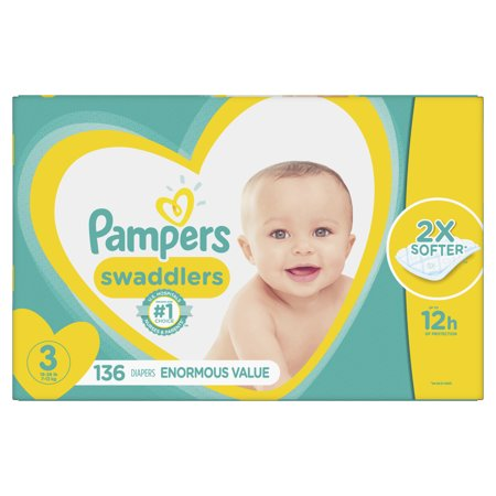 Pampers Swaddlers Diapers Size 3 136 (Dry Time Baby Diapers)