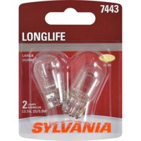 SYLVANIA 7443 Long Life Mini Bulb, Pack of 2