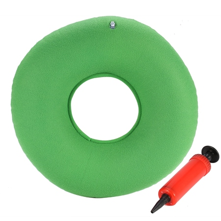 Anauto Inflatable Round Chair Pad Hip Support Hemorrhoid Seat Cushion With Pump(Green), Chair Cushion, Haemorrhoids - Rounded Support