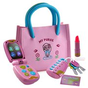 1b47db9f7 Playkidz My First Purse Pretend Play Set for Girls with Lights and Sound  Flip Phone,