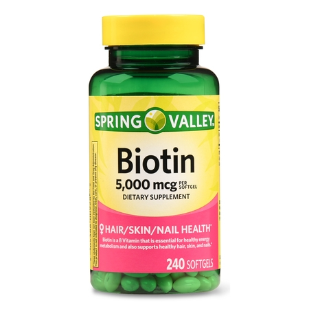 Spring Valley Biotin Softgels, 5000 mcg, 240 Ct
