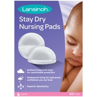 Lansinoh Stay Dry Disposable Nursing Pads, 60ct