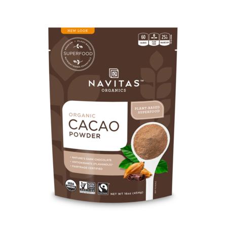 Navitas Organics Cacao Powder, 1.0 Lb, 30 Servings