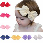 db02134c383a 12Pcs Cute Kids Girl Baby Chiffon Toddler Flower Bow Headband Hair Band  Headwear