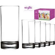 9669418a3ed7 Plastic Tumbler Cups Drinking Glasses - Acrylic Highball Tumblers Set of 6  Clear 16 oz Unbreakable
