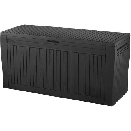 Keter Comfy 71-Gal Outdoor Deck Box, Espresso Brown ()