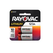 RAYOVAC RL123A-2 CR 123 3 VOLT LITHIUM BATTERIES 2 PACK