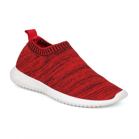 New Women Wild Diva Sabrina-01 Fabric Low Top Sock Jogger Sneaker