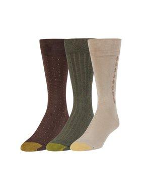 Gold Toe Men's Classic Dress Crew Socks, 3 Pairs