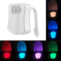 Toilet Night Light Motion Activated, Multi-Colored Changing LED Motion Sensor Toilet Bowl Light